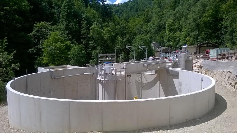 Syndicat Mixte du Haut Jura – Rénovation de la station d'épuration de Hauts de Bienne – Travaux réalisés en 2015-2016